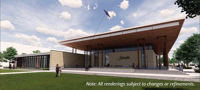 Johnston City Hall Rendering