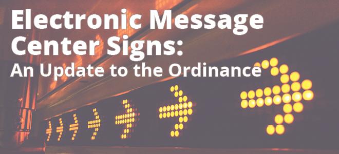 Electronic Message Center Signs Ordinance Johnston Iowa